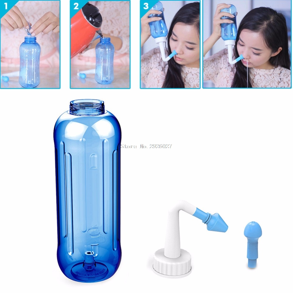 Adults Children Nose Wash System Pot Sinus & Allergies Relief Rinse Neti 500mL