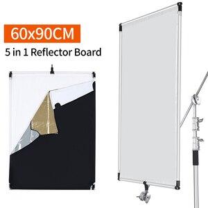 Image 3 - 60x90cm Aluminum AlloySun Scrim Frame Large 5in1 Black Silver Gold White Diffuser Reflector for Professional Photography Studio