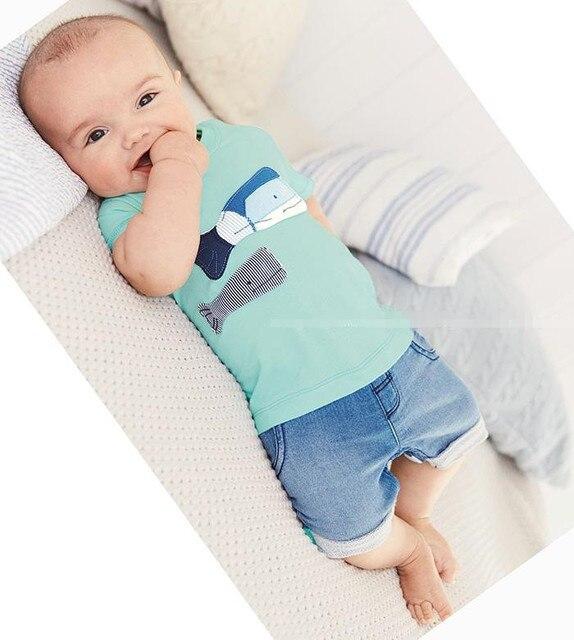 e076414b5 2019 estilo de verano ropa de bebé conjuntos de dos peces pequeños modelo de  algodón de