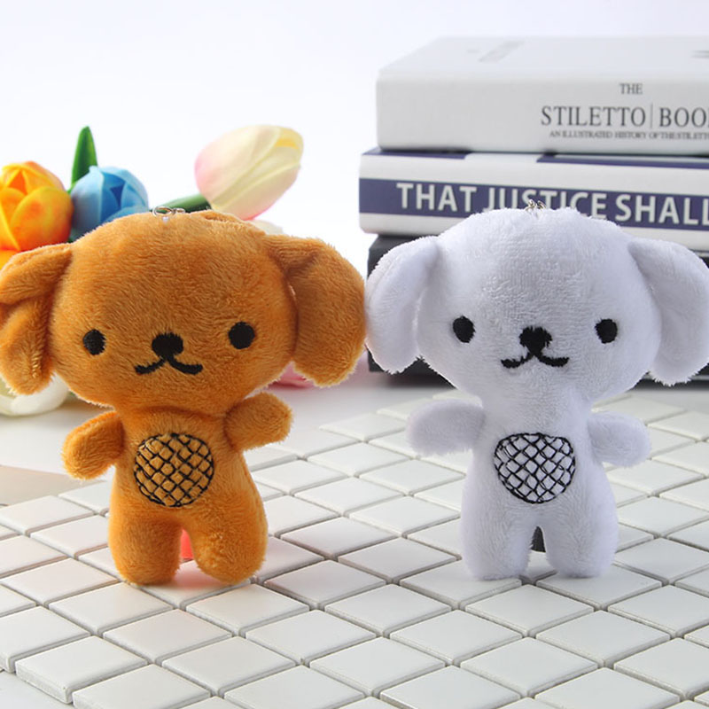 Phone Case Handbag KeyChain Backpack Pendant Kawaii Mini Stuffed Animals Dog Plush Hanging Accessory Doll Pendant Toys For Kids