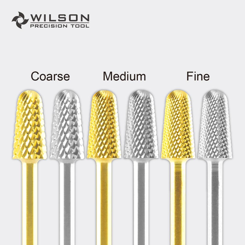 Safety Bit - Gold/Silver - WILSON Carbide Nail Drill Bit цена