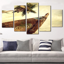 Maldives Beach Canvas Paintings 5 Piece Wall Art Oil Printing Style Design Pictre For Living Room Classical European Prints(China)