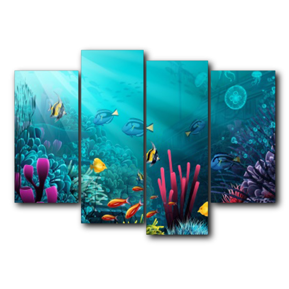 Laeacco Underwater World Canvas Painting Posters and Prints Classic Wall Art Pictures Living Room Decor Nordic Home Decoration in Painting Calligraphy from Home Garden