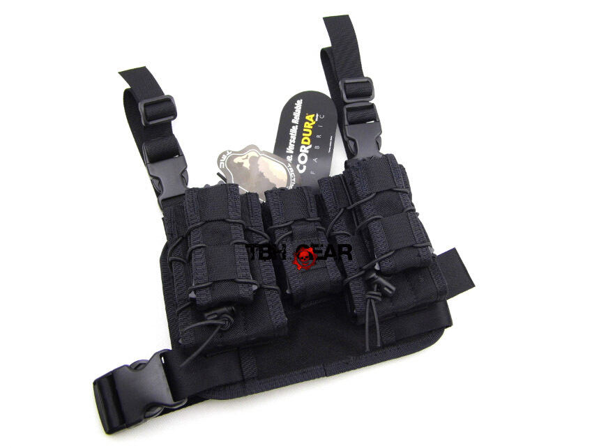 TMC Hight Hang Tactical Drop Leg Pouch Panel Platform Set Magazine Pouch In Black+Free shipping(SKU12050427) adjustable quick release plastic tactical puttee thigh leg pistol holster pouch for usp45 black
