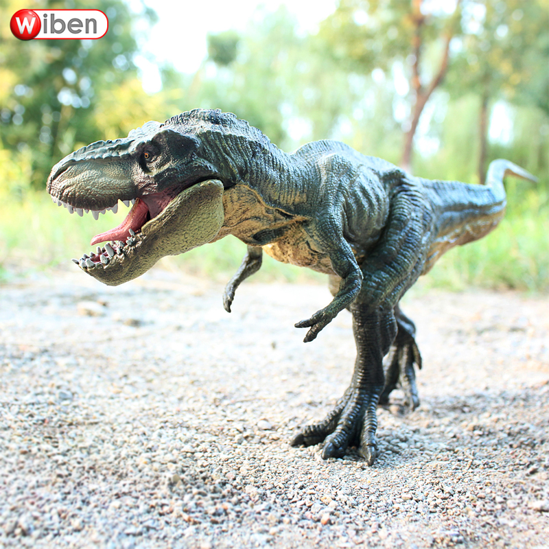Wiben Jurassic Tyrannosaurus Rex <font><b>Dinosaur</b></font> <font><b>Toys</b></font> T-Rex Action & <font><b>Toy</b></font> Figures Animal Model Collection Learning Educational Kids Gift image