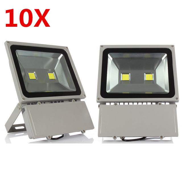 100W Led Flood Light High Power Led Spotlight Outdoor Lighting Waterproof IP66 AC85-265V Led Floodlight 10PCS