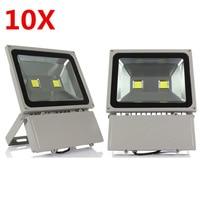 100W Led Flood Light High Power Led Spotlight Outdoor Lighting Waterproof IP66 AC85 265V Led Floodlight 10PCS