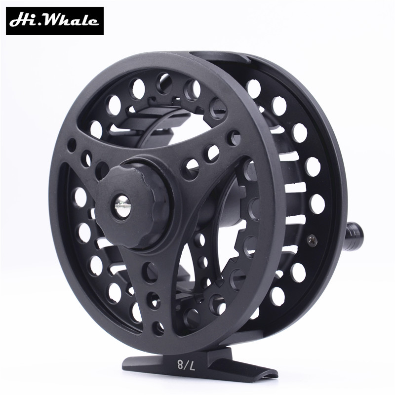 Hi whale fishing reel 3 4 7 8wt fly reel machined aluminum for Micro fishing reel