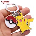 Pocket Monster Pokemon Pikachu Pokeball Anime Keychain Llavero Pokemon Go Keychain Llaves Portachiavi for Women Men Jewelry