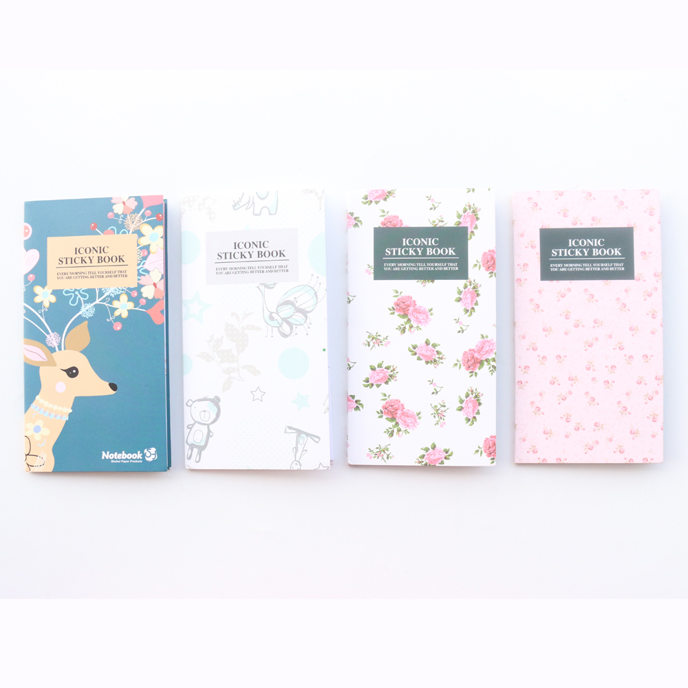 Domikee new cute cartoon school student sticky note pad stationery,fine candy portable memo pad index label book Karachi