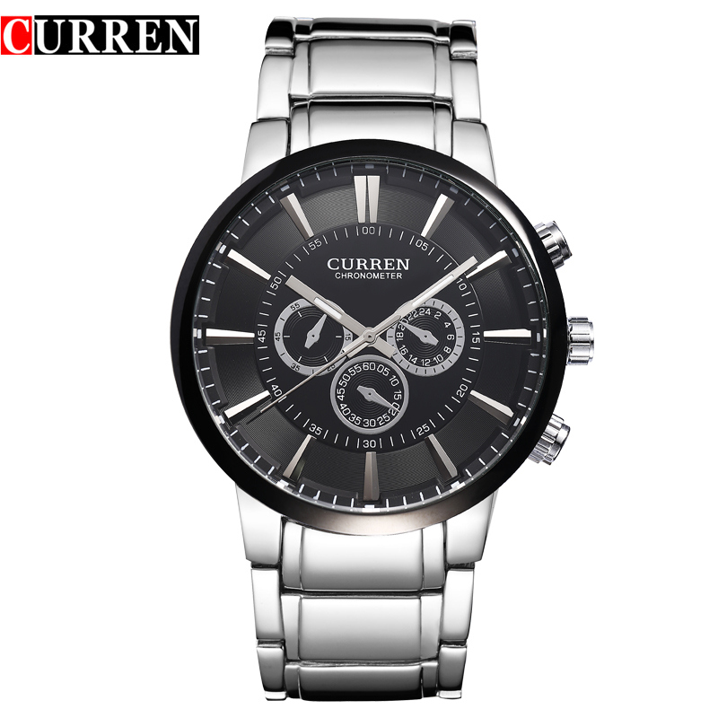 Curren Mens Watches Top Brand Luxury Men Quartz Sports Watches Military Wrist Watches Casual Full Steel Watch Waterproof Relogio curren top brand luxury men sports watches men s quartz clock man military full steel wrist watch waterproof relogio masculino
