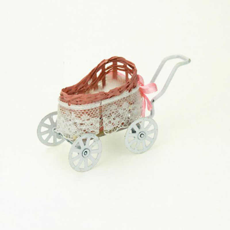 1pcs Creative cute Doll house decor Miniature Accessories Baby carriage Model Doll House Accessories toys gift