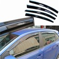 4pcs Windows Vent Visors Rain Guard Dark Sun Shield Deflectors For VW POLO 2011-2014