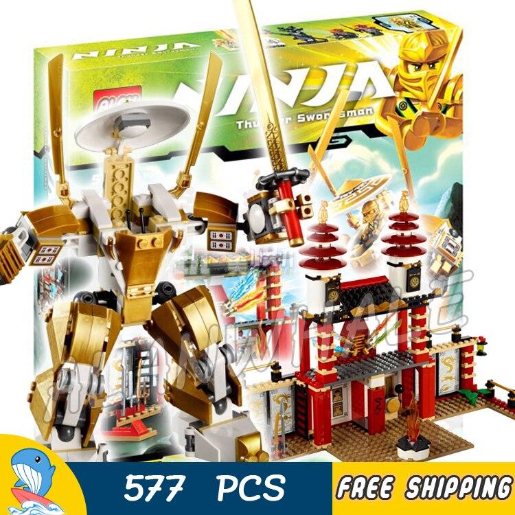 ФОТО 577pcs New Bela 9795 Temple of Light Dojo Building Blocks Sets Golden Ninja Classic Toys Bricks Compatible With lego