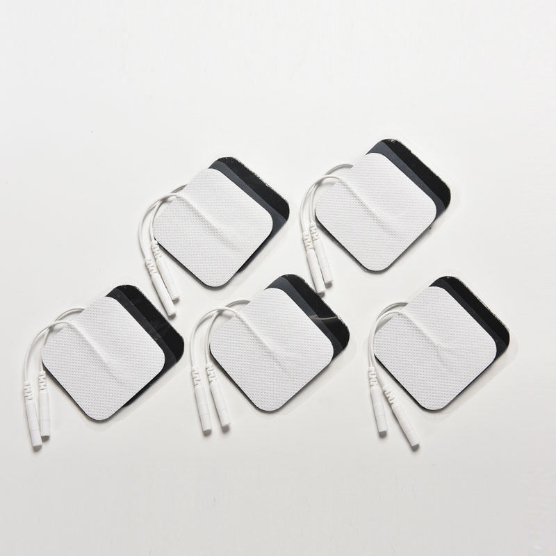 10Pcs Tens Digital Therapy Machine Massager Nerve Stimulator with 2mm Plug Electrode Pads Tens Electrodes 5*5cm