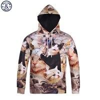 Mr BaoLong Brand Men S Fashion Full Kittens 3D Printed Hooded Sweatshirt New 2018 Spring Autumn