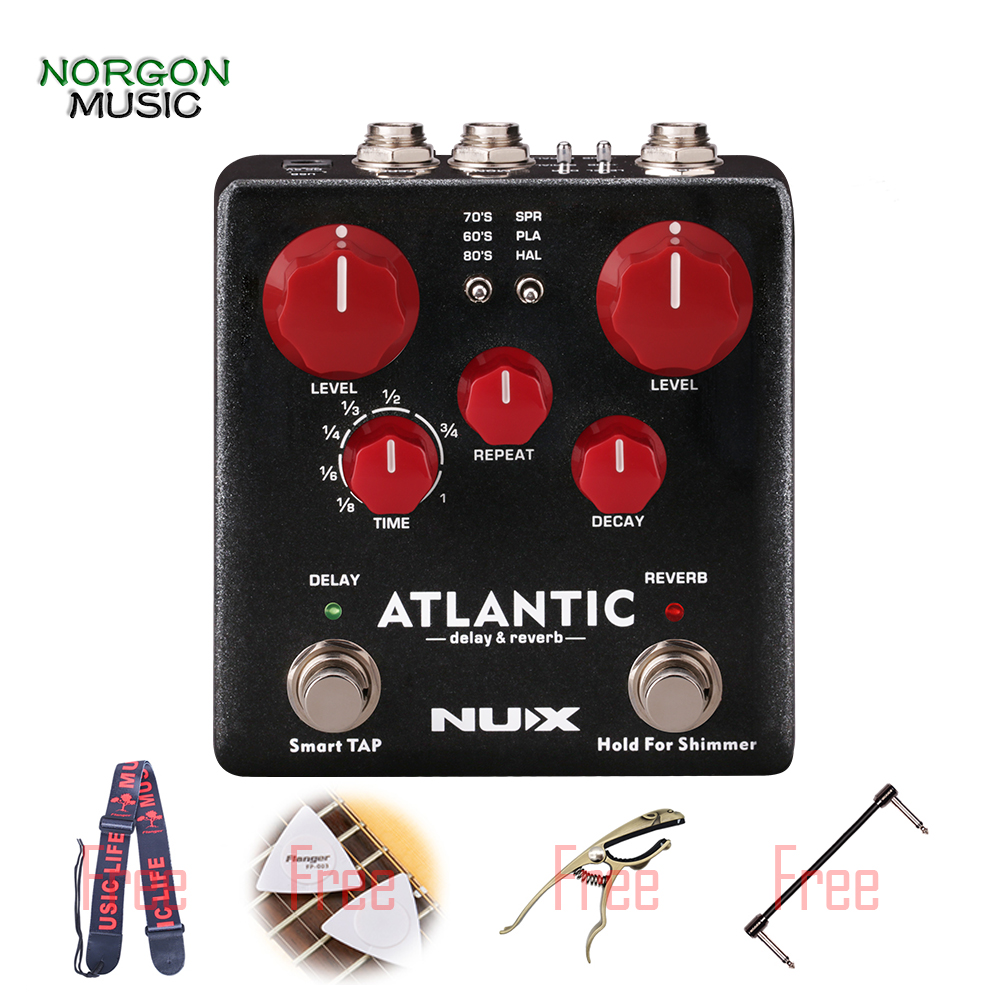 buy nux atlantic delay reverb effect pedal with inside routing and secondary. Black Bedroom Furniture Sets. Home Design Ideas