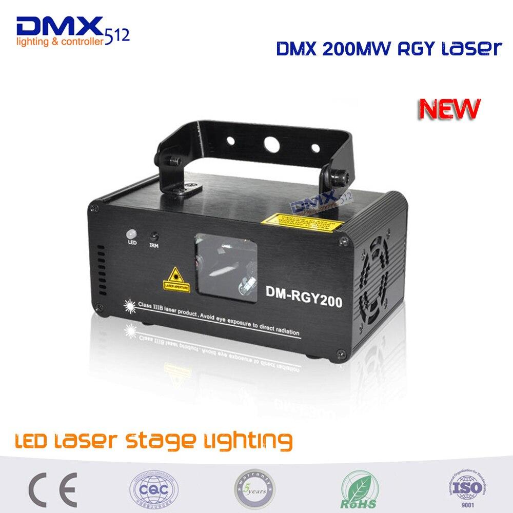 2017 Новый пульт дистанционного управления DMX 200 mW RGY Рождественский лазерный сценический сканер освещения Танцевальная вечеринка шоу свет светодиодный проектор с эффектом микс желтый красный зеленый
