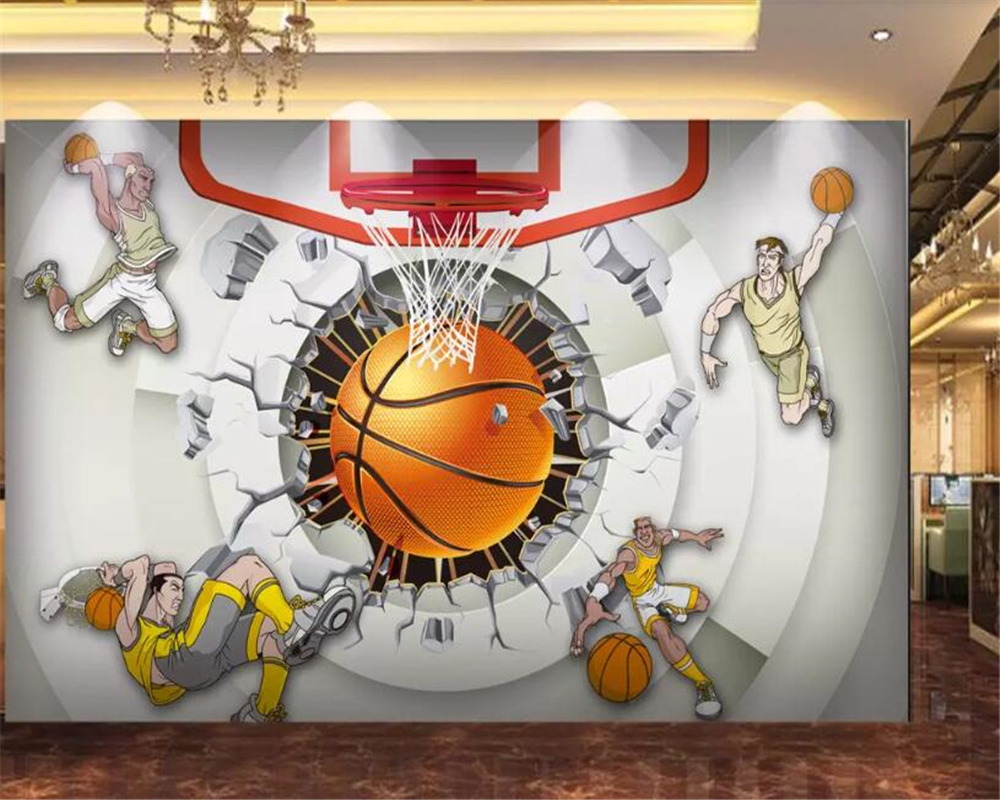 Children Basketball Wallpaper: Beibehang Wallpaper 3d Custom Photo Wallpaper 3D Creative