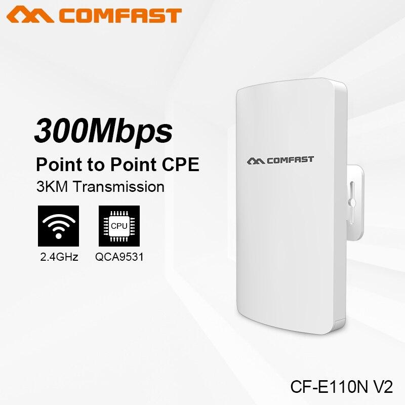 Comfast 2.4G/5G 300 Mbps mini extérieur sans fil CPE WIFI répéteur réseau pont pour WIFI signal récepteur envoyer CPE - 2