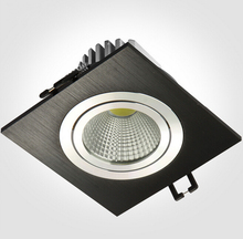 Hot! Silver-White-Black Shell 10W 15W Dimmable LED Downlights Square Tiltable Fixture Cabinet Recessed Ceiling Down Lights Lamp