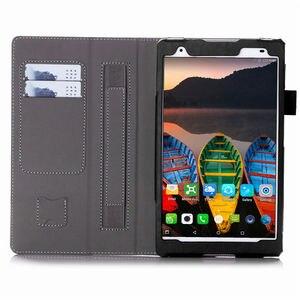 """Image 4 - Kılıf için Lenovo Tab 4 8 artı TB 8704X kılıfları TB 8704F TB 8704N 8 """"kapak Funda Tablet deri el tutucu standı kabuk + Film + kalem"""