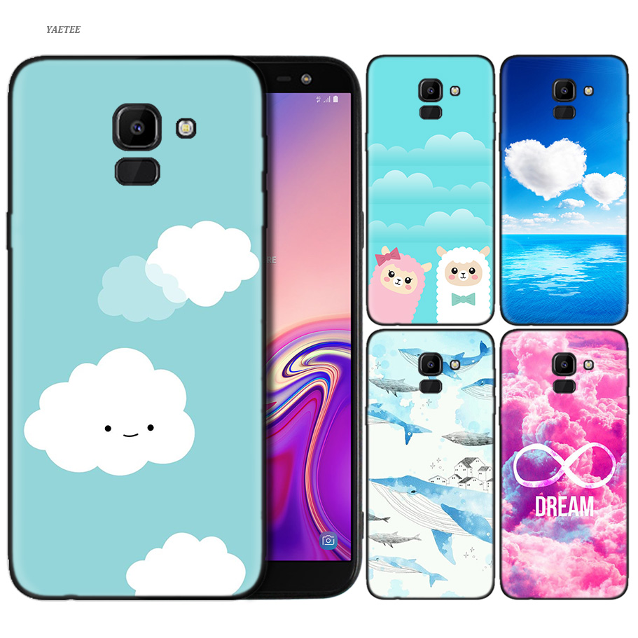The Space Moon Astronaut Cases Cover For Samsung Galaxy A6 A7 A8 Plus A7 A9 2018 J4 J6 J8 Plus 2018 Hard Back Phone Case Half-wrapped Case Phone Bags & Cases