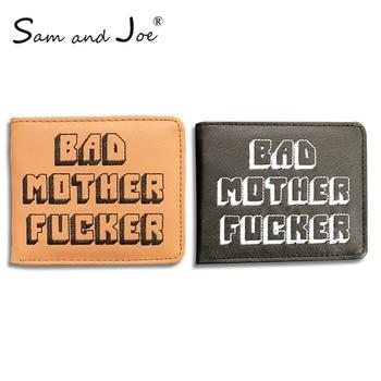 Новый целлюлозно Художественная литература Jules кошелек небольшой карман монету плохая мать буквы бумажник держатель для карт pu короткий ко... >> Behrang's High Quality Bag Store