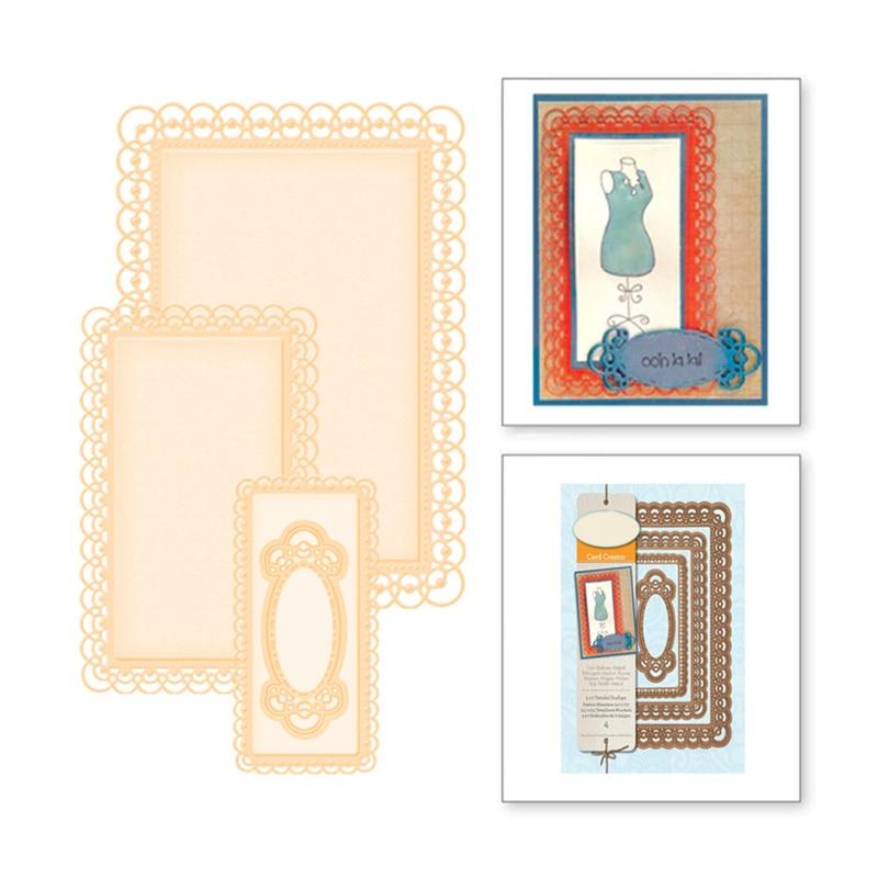 Naifumodo 3Pcs Metal Cutting Dies Scrapbooking for Card Making DIY Embossing Cut