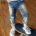 ÉL Hola Disfrutar chicos vaqueros 2016 pantalones de los muchachos niños de invierno pantalones de cintura elástica pantalones del demin de los niños de la marca pantalones causales