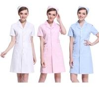 Tıbbi giyim Hastane tıbbi bodur elbise slim fit diş scrubs güzellik salonu hemşire üniforma spa elbise