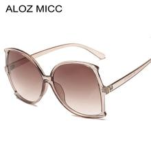 ALOZ MICC Vintage Oversize Square Sunglasses Women 2019 Brand Designer Big Frame Sun Glasses Men Eyewear UV400 Q619