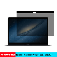 AIBOULLY Magnetic Privacy filter Screens Protective film for New Macbook Pro 15 2017 inch For Apple laptop model number A 1707