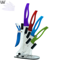 XYJ 6 Piece Kitchen Knife Set 3 4 5 6 Inch A Blue Peeler A Multifunctional