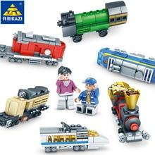 hot deal buy kazi 354pcs city train building blocks sets compatible legoings creator track rails bricks hobbies educational toys for children