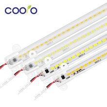 AC220V HA CONDOTTO LA Barra Luce di Alta Luminosità HA CONDOTTO il Tubo di 50 cm 5730 HA CONDOTTO LA Striscia Rigida Retroilluminazione per Armadio Da Cucina LED Fluorescente tubo 5 pz