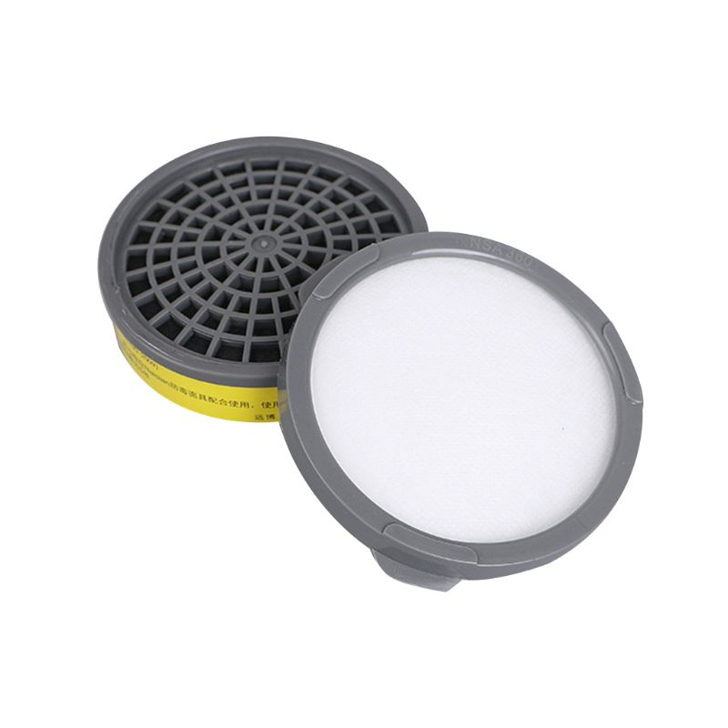 Filter Box Full Facemask Respirator Cotton Filter Dust Face Mask Gas Mask For Chemistry Paint(China)