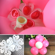 5pcs Flower Modelling Seal Clips Helium Latex Balloon Sealing Wedding Decoration Birthday Party Supplies