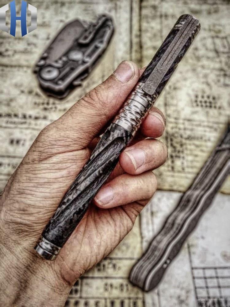 Купить с кэшбэком Tactical Pen Carbon Fiber Titanium Alloy Self-defense Defense Pen Attack Survival EDC Survival Pen