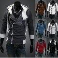 Новые Плюс размер С Капюшоном Куртки Вскользь Зимние Куртки с капюшоном спортивной Assassins Creed мужская Одежда Толстовки Кофты