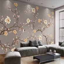 Пользовательские обои ручная роспись цветы и птицы искусство
