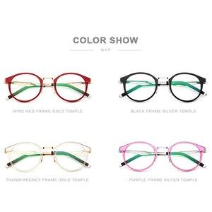 Image 5 - FONEX TR90 משקפיים מסגרת גברים נשים בציר עגול מרשם משקפיים קוצר ראיה מסגרת אופטית משקפיים רטרו ללא בורג Eyewear