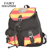 FAIRY SERAPHIM Harry Potter Rugzak Afdrukken Stripped Canvas Cartoon Flap Cover String Kinderen schooltas mochila Rugzakken