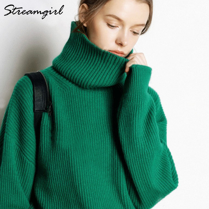 Black Turtleneck Cashmere Sweater Women Turtleneck Women's 2019 Sweater Cashmere Jumper Pull Femme Pullover Women Fashion