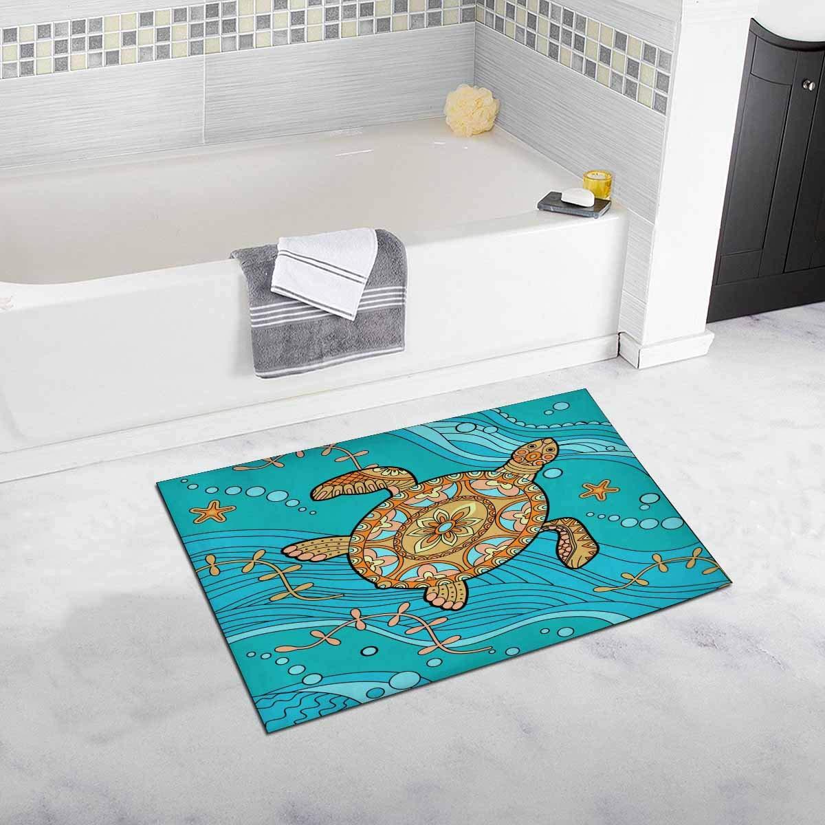 Sea Turtle Bath Mat And Shower Rug Non Slip 32 L X 20 W