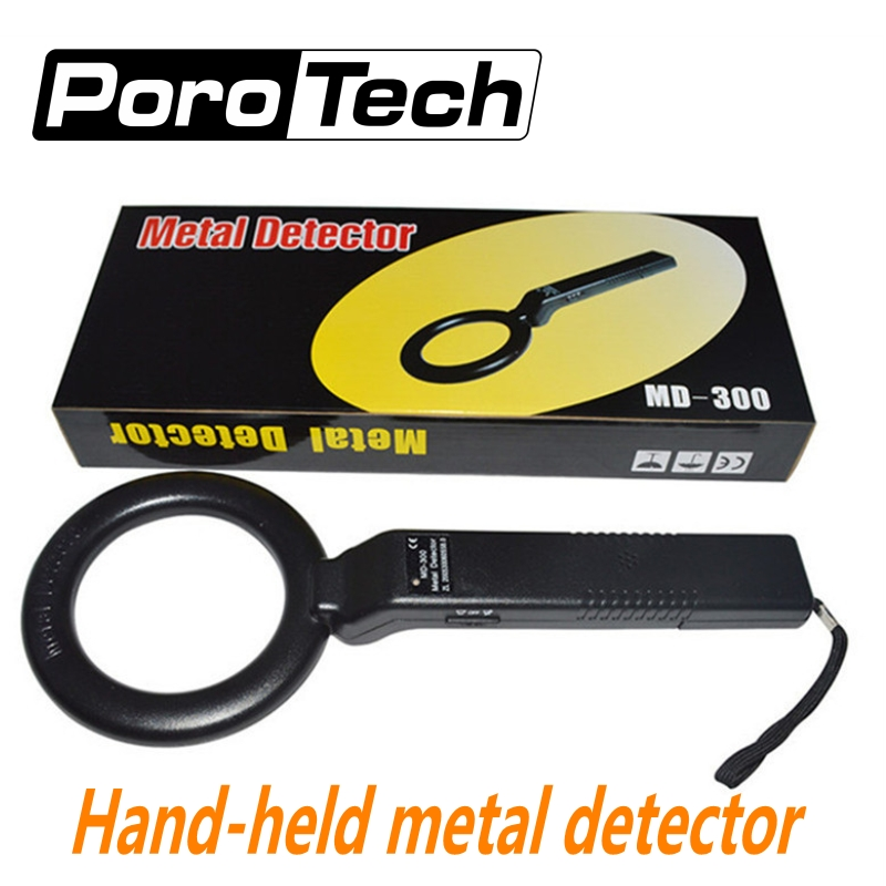 10pcs/lot Portable Metal Detector Professional Mini MD300 Handheld Metal Detector Body Scanner Superscanner With Vibration