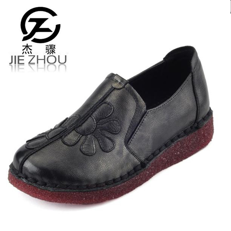 2018 leather handmade casual shoes Plus Size soft bottom Women Shoes  wine red, black Flats Free shipping topsell 2017 men women 3 casual shoes black red white solomons runs breathable shoes free shipping size 40 46 speedcros