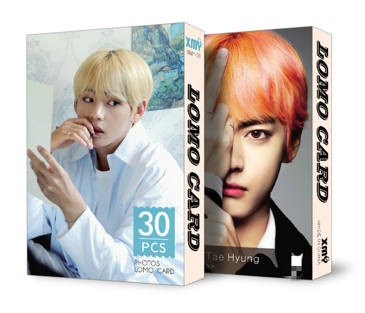 Image 5 - 30pcs/set k pop  Bangtan Boys Album LOMO Cards New Fashion Paper Photo Card HD Photocard-in Women's Masks from Apparel Accessories