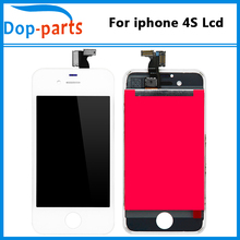20Pcs Wholesale LCD For iPhone 4s LCD Display Touch Screen Digitizer Assembly Phone Replacement Parts Black White LCD Display