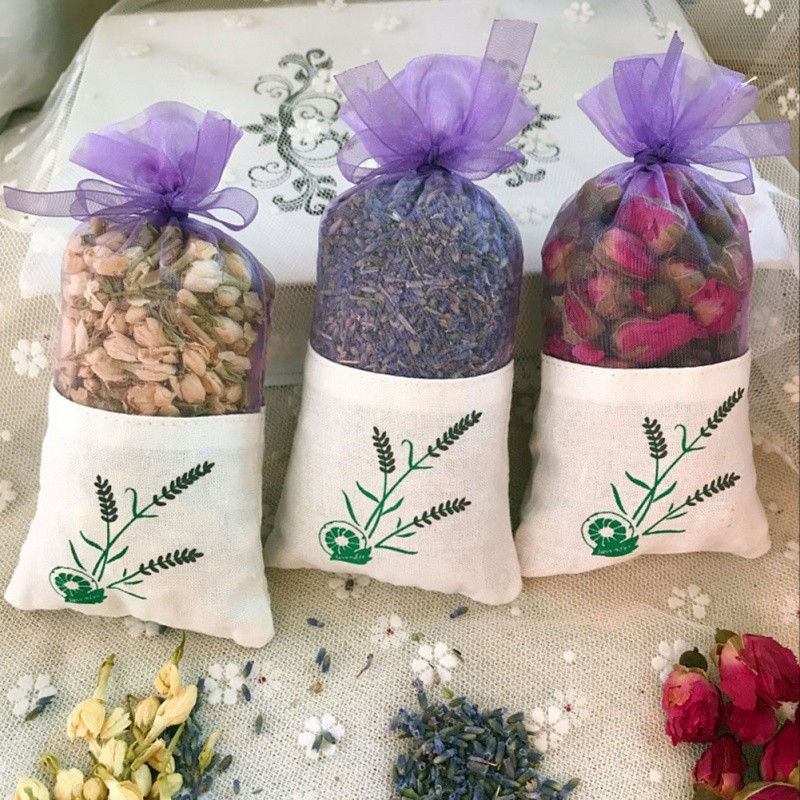 Fragrance Sachet Deodorant For Car Wardrobe Clothes Fragrant Sachet Bag Natural Rose Flowers Jasmine Lavender Bud Dried Flower